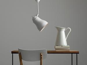 Závěsná lampa GLOBO - bílá small 1