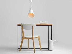 Závěsná lampa GLOBO - bílá small 2