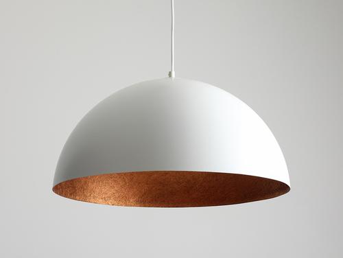 Lampa wisząca LORD 50 - miedziano-biały