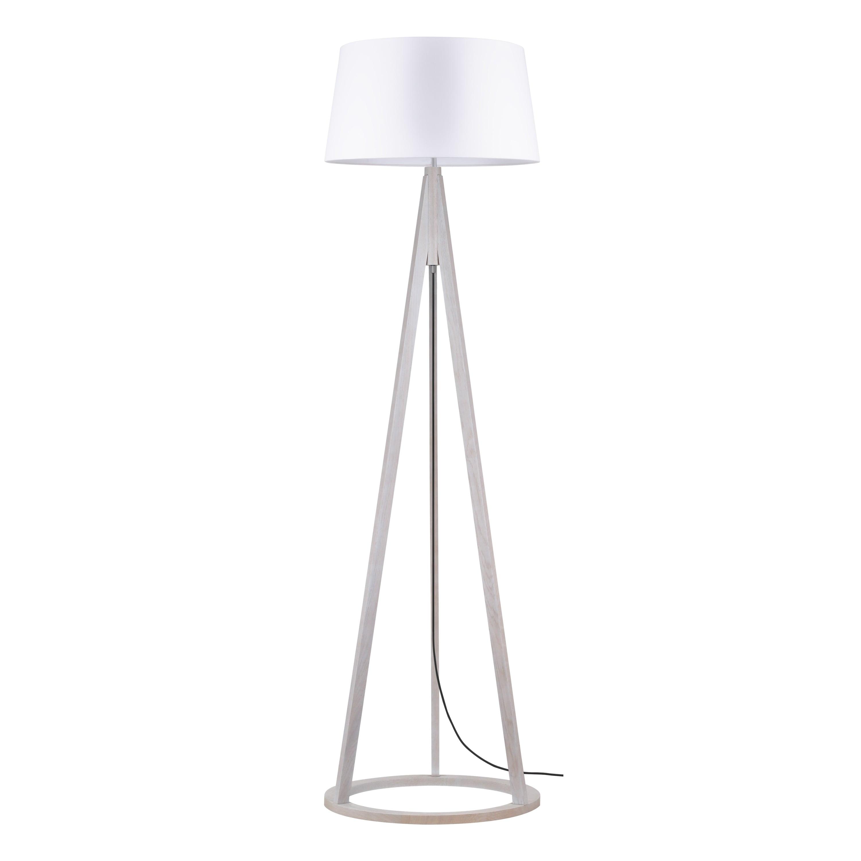 Konan stojací lampa dąb bielony / antracitová / bílá E27 60W