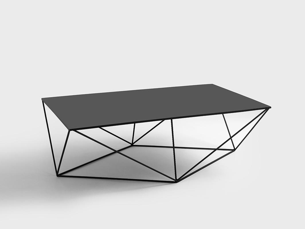 Konferenční stolek DARYL METAL 140