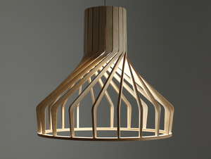 Závěsná lampa VEGA FAT - přírodní small 4