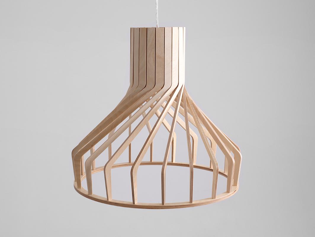 Závěsná lampa VEGA FAT - přírodní