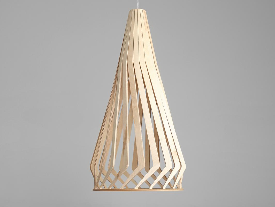 Závěsná lampa VEGA TALL - přírodní