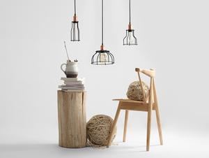 Závěsná lampa WORKER TALL - černá small 2