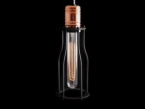 Závěsná lampa WORKER TALL - černá small 3