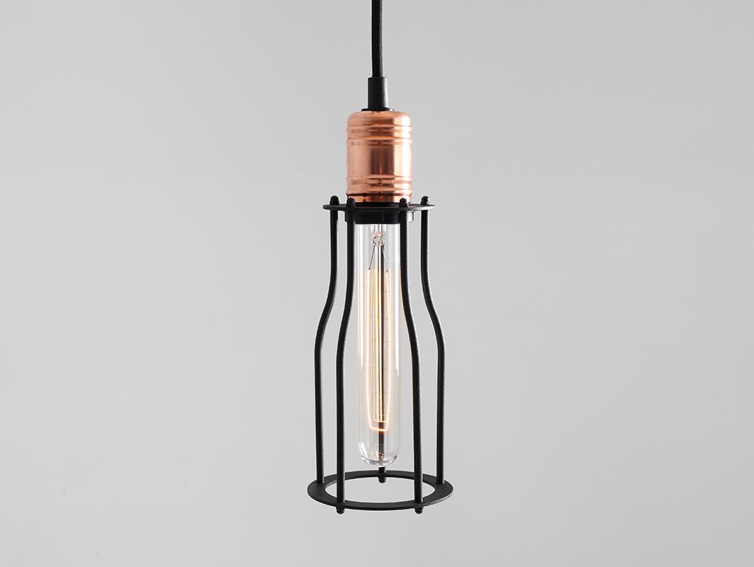 Závěsná lampa WORKER TALL - černá