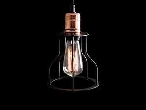 Závěsná lampa WORKER WIDE - černá small 4