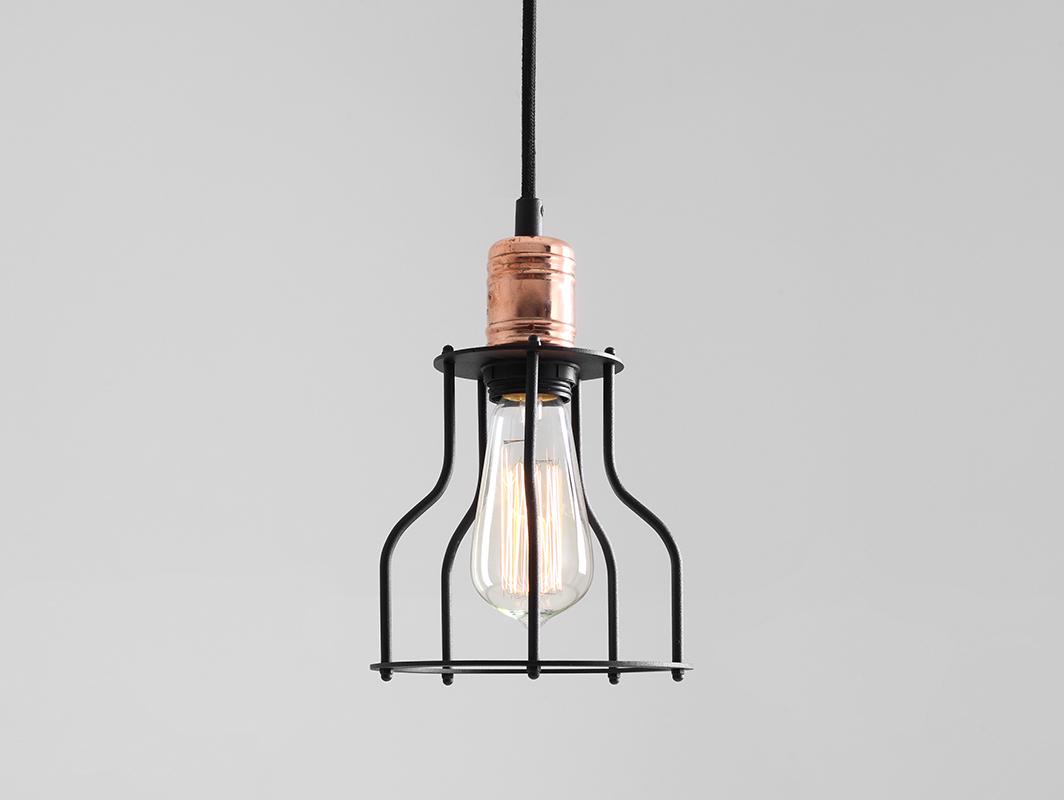 Závěsná lampa WORKER WIDE - černá