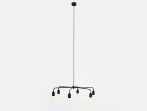 Závěsná lampa CROSER 6 - černá small 3