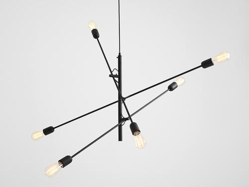 Lampa wisząca TWIGO 6 - czarny