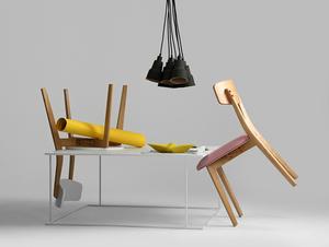 Konferenční stolek WALT METAL 100x100 small 2