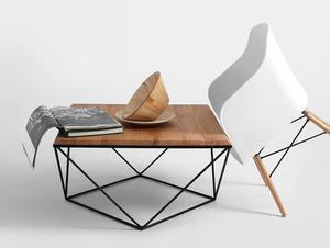 Konferenční stolek DARYL SOLID WOOD 80 small 1