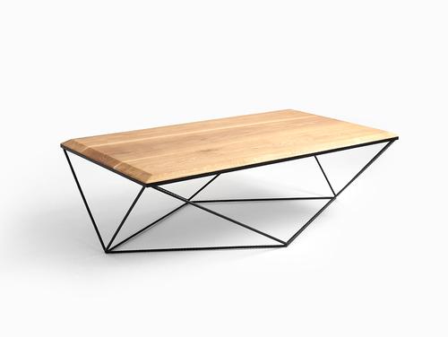 Konferenční stolek DARYL SOLID WOOD 140