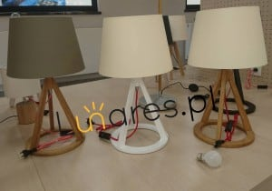 Stolní lampa Konan bílá / červená-bílá / bílá E27 25W small 1
