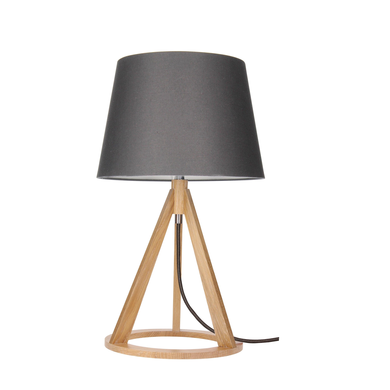 Stolní lampa Konan dąb / antracit / antracit E27 25W