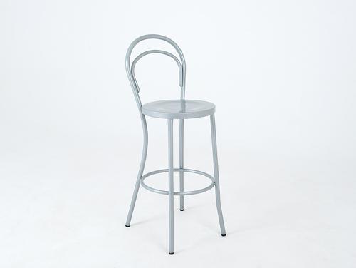 Barová stolička CHAPLIN BAR - stříbrná