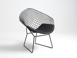 Židle DIAMENT - černý, černý polštář small 3