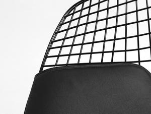 Židle DIAMENT - černý, černý polštář small 4