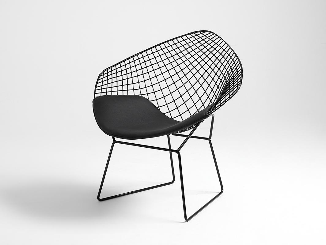Židle DIAMENT - černý, černý polštář