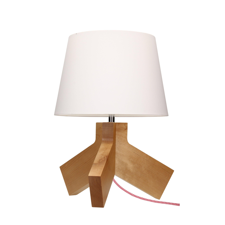 Stolní lampa Tilda brzoza / chrom / červeno-bílá / bílá E27 60W