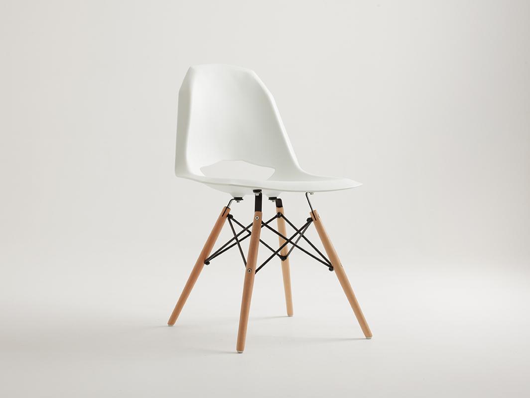 Židle WOOD WOOD - bílá