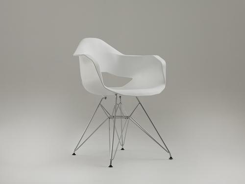 Židle MATCH ARMS METAL - bílá