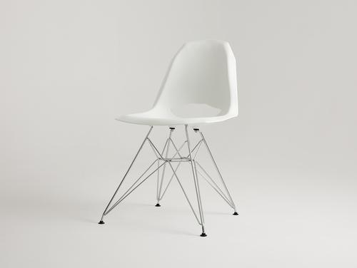 Židle MATCH METAL - bílá
