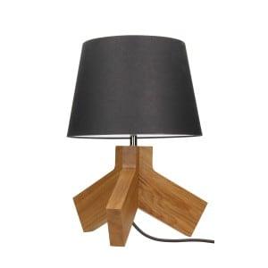 Stolní lampa Tilda dąb / chrom / antracit / antracit E27 60W small 0