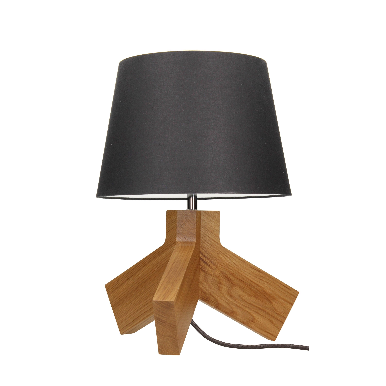Stolní lampa Tilda dąb / chrom / antracit / antracit E27 60W