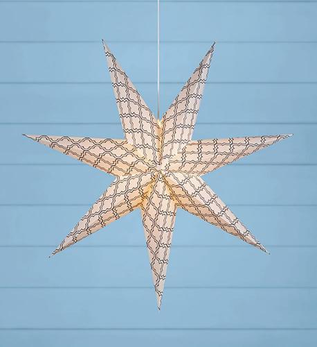 GRAFIK Stojící papírová hvězda 75cm šedá / bílá