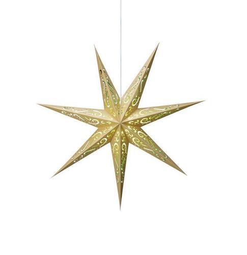 ELIN Papírová hvězda zlatá a zelená