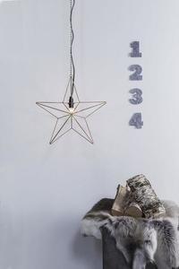 TJUSA Stálá dekorace 42cm E14 Zlatá small 0