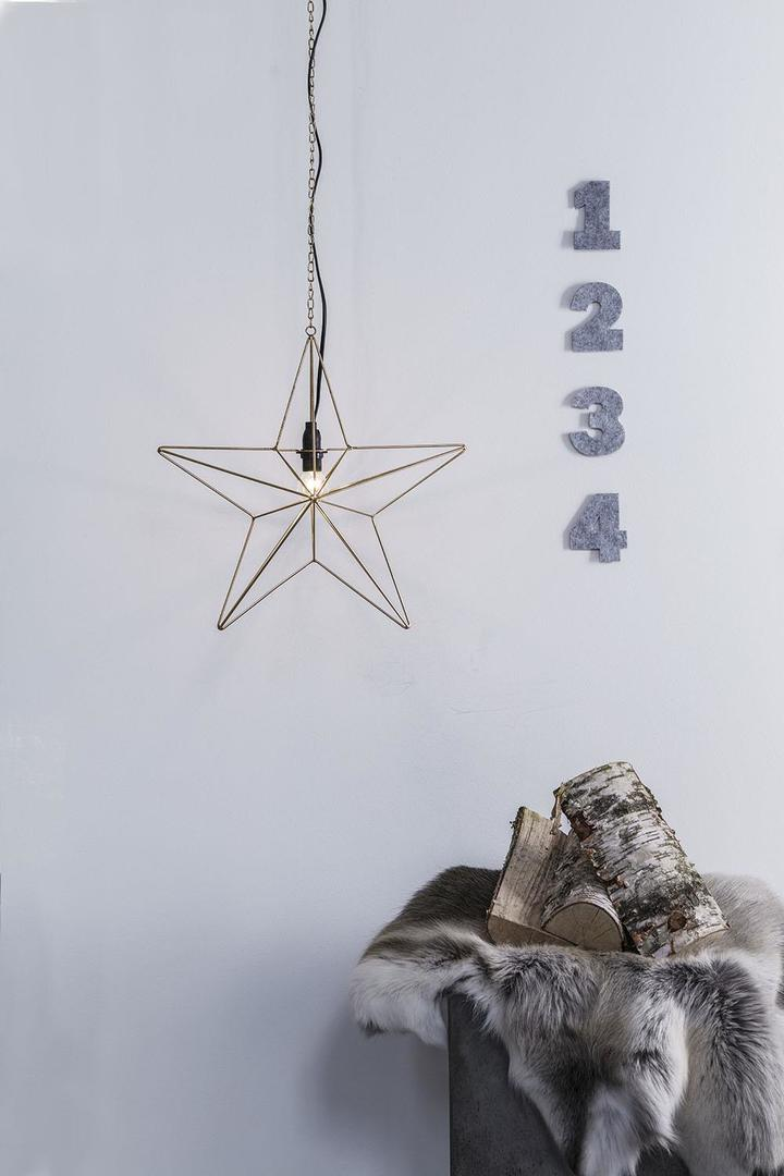 TJUSA Stálá dekorace 42cm E14 Zlatá