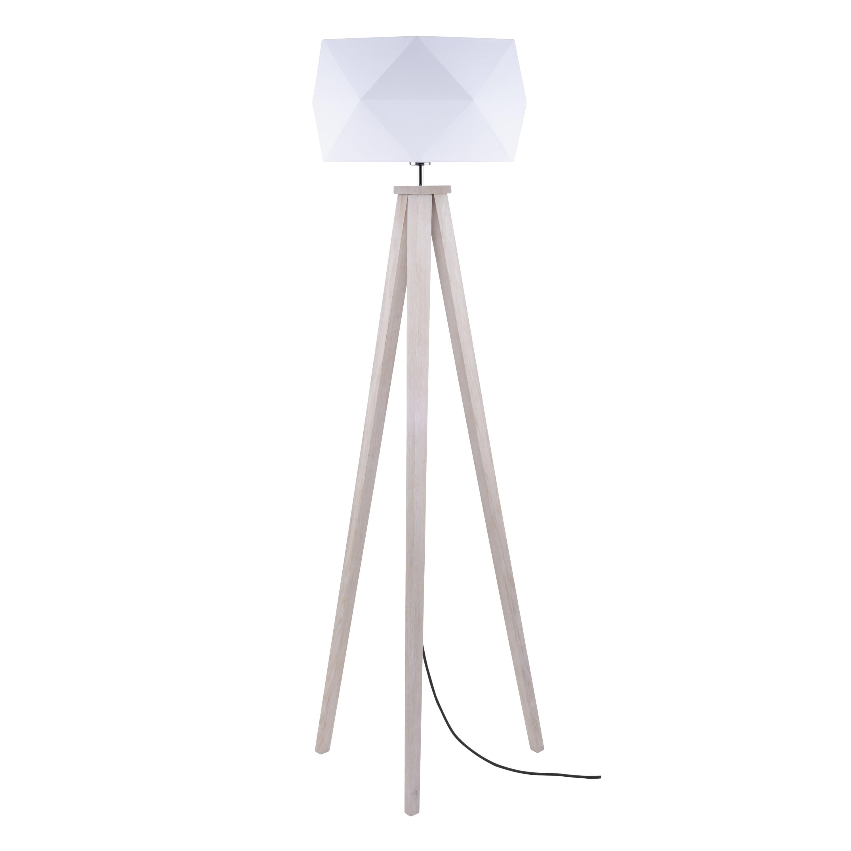Stojací lampa Finja dąb / antracitová / bílá E27 60W