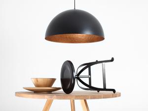 Závěsná lampa LORD 70 - měď-černá small 1