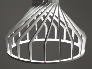 Závěsná lampa VEGA FAT - bílá small 3