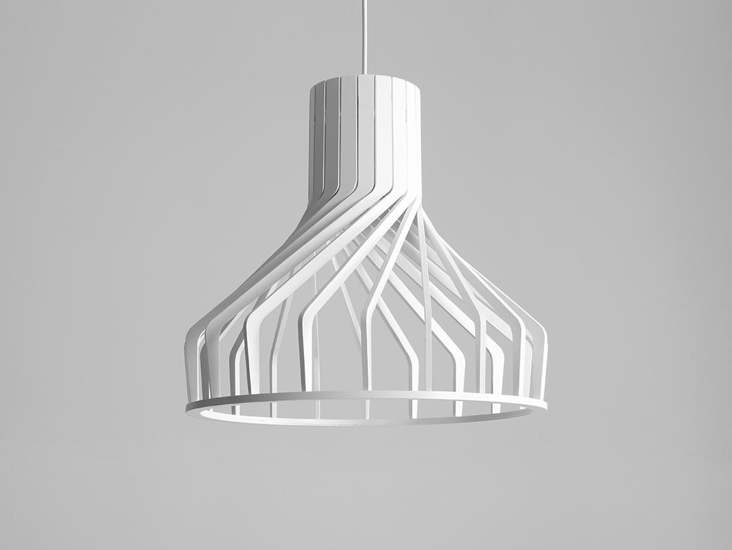 Závěsná lampa VEGA FAT - bílá