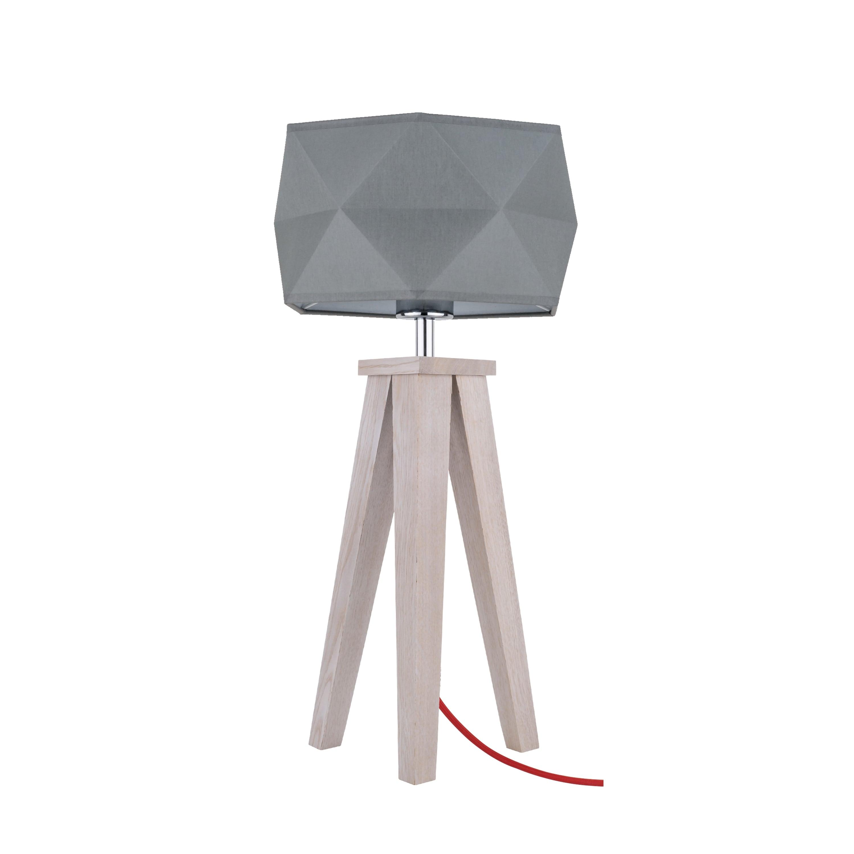 Stolní lampa Finja dąb / czerwony / antracit E27 60W