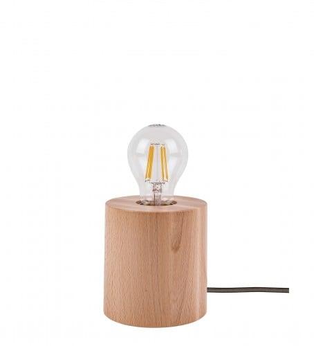 Stolní lampa Trongo buk různé barvy kabelu E27 60W