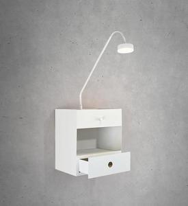 DRAW Nástěnná lampa 1L bílá small 1