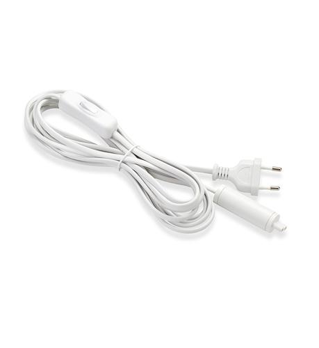 EXPAND Spusťte kabel 3,5 m do zásuvky + spínač bílý