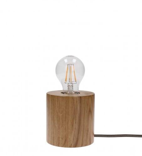 Lampa stołowa Trongo dąb/antracyt E27 60W