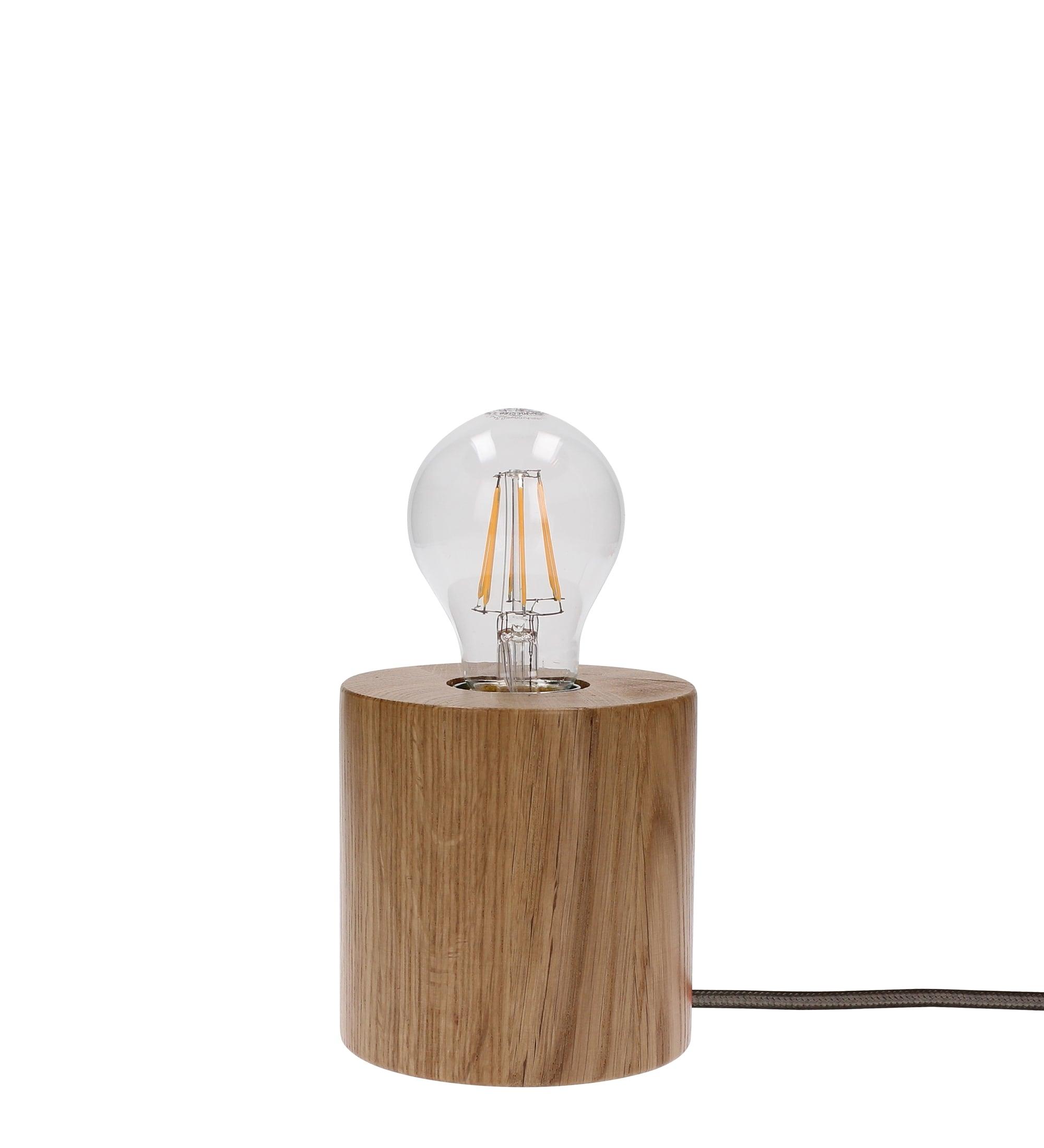 Stolní lampa Trongo dub / antracit E27 60W