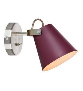 TRIBE Nástěnná lampa 1L Burgundsko / ocel small 2