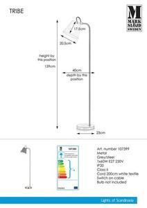 TRIBE Podlaha 1L šedá / ocel small 0