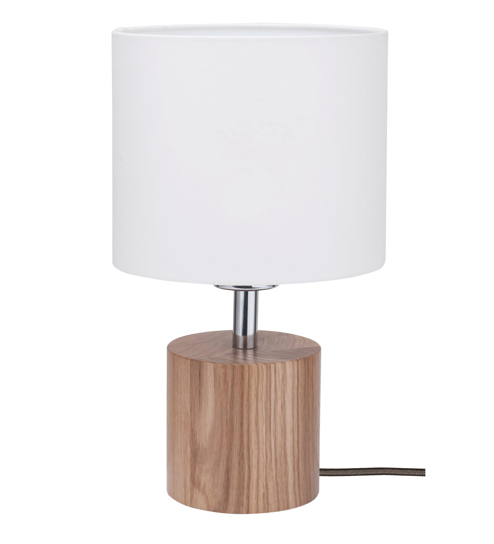 Stolní lampa Trongo dub různé barvy kabel bílá E27 60W