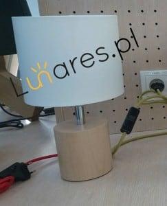 Stolní lampa Trongo olejovaný dub s různými barvami kabelů bílá E27 60W small 6