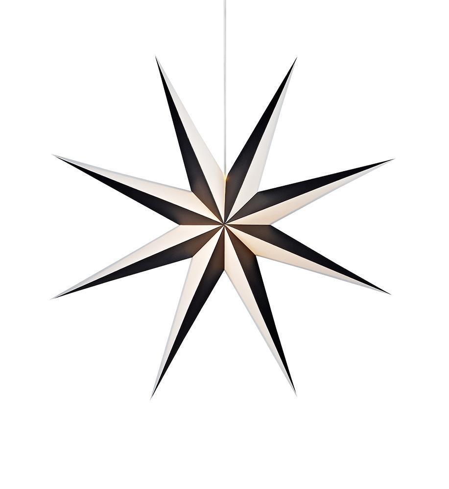 ALVA přívěsek na papírová hvězda 75 černá bílá