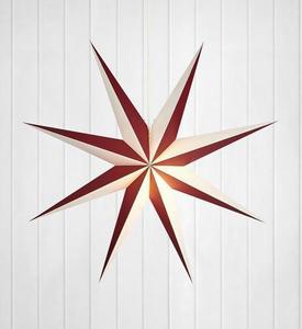 ALVA papírová přívěsková hvězda 75 E14 víno / bílá small 0
